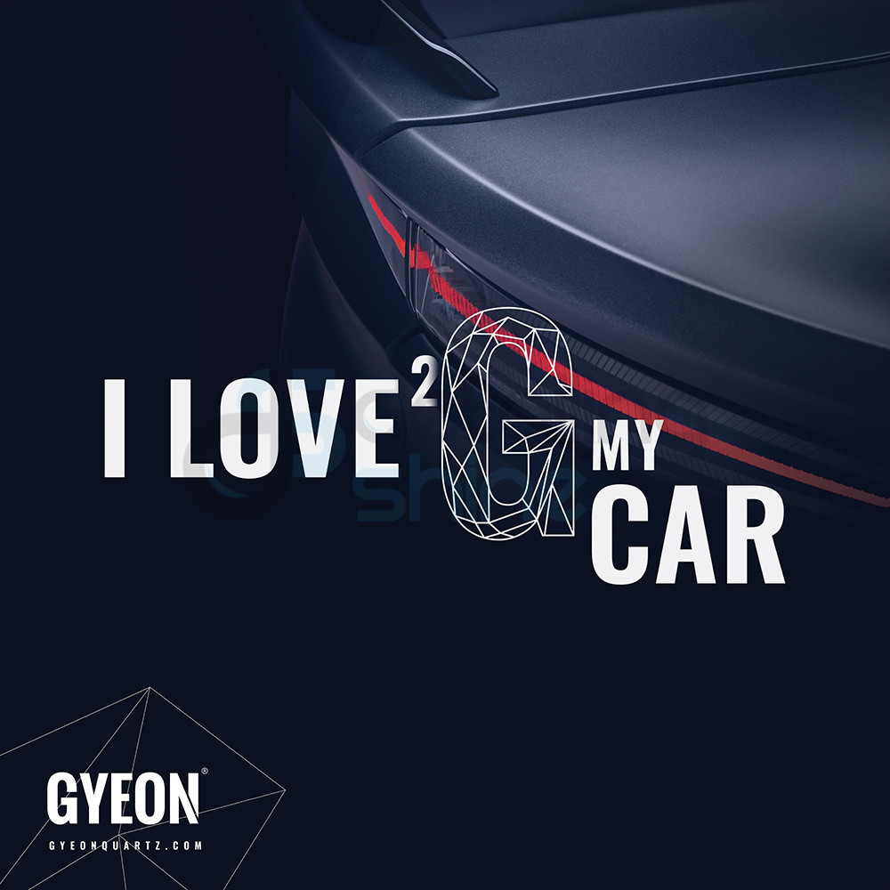 GYEON Canvas Banner 100x100 / I Love 2 G my car / Taillight