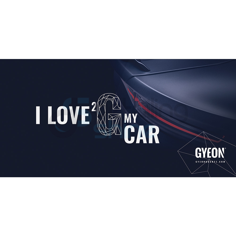 GYEON Canvas Banner 200x100 / I Love 2 G my car