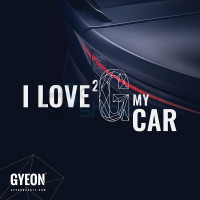 GYEON Canvas Banner 100x100 I Love 2 G my car / Taillight